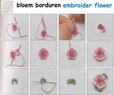 Brazilian embroidery Techniques //  flower