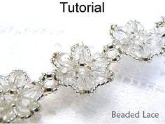 Beading Pattern Bracelet Patterns Beading by SimpleBeadPatterns Diy Jewelry, Beaded Jewelry, Handmade Jewelry, Jewelry Making, Jewlery, Vintage Jewelry, Beaded Bracelet Patterns, Beading Patterns, Beading Ideas