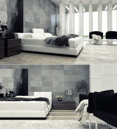 ideen für moderne schlafzimmer - #schlafzimmer, #wohnideen   deko ... - Modernes Schlafzimmer Schwarz Weis