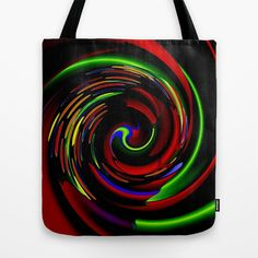 Holiday Whirl Tote Bag by lillianhibiscus - $22.00