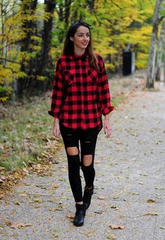 J U S T M: OUTFITS CAMISA A CUADROS!