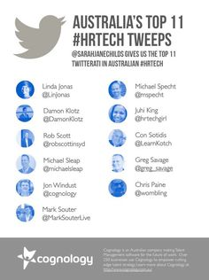 The Top 11 Tweeps in Australian #HRTech: Guest post from Sarah Moore | Cognology