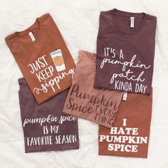 These gorgeous graphic tees are a must-have for ladies who are in love with all things fall!