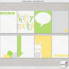 Happy Easter - Journaling Cards by Dunia Designs