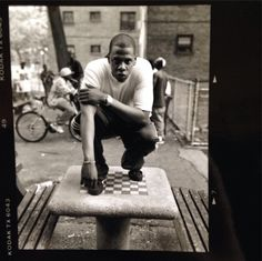 Jay-Z, photographed in the Marcy Projects for In My Lifetime, Vol. 1 by Jonathan Mannion in 840 notes 90s Hip Hop, Hip Hop Rap, Jay Z Blue, History Of Hip Hop, Sean Combs, Hip Hop Classics, Arte Hip Hop, Rap Wallpaper, Beyonce And Jay Z