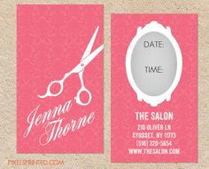 hairstylist business cards - color both sides - FREE UPS ground ...