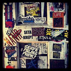 gettin up in Huntington Beach today #streetart #graffiti #slaps #sticker #superiorink