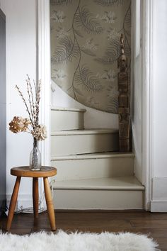 Love the idea of hallway or stairwell wallpaper. I've seen some great gallery walls in hallways, and depending on the width of your staircase it could work there, too. But if it's narrow (as the case in so many old homes!) wallpaper would be a nice way to charm up the space without adding bulk!