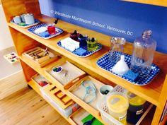 Montessori Practical Life shelf ... /wmswms/ (Westside Montessori School, Vancouver, BC)