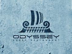odyssey greek restaurant designed by Sántha András. Restaurant Logo, Restaurant Design, Greece Mythology, Law Firm Logo, Greek Restaurants, Interface Design, Logos, Book Design, Typography