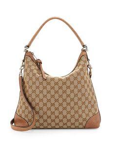 Original GG Canvas Hobo Bag, Medium Camel by Gucci at Neiman Marcus.