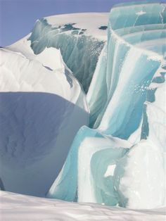 Wave-Like Ice Formations in Antarctica