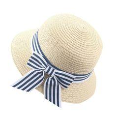 Judi Kids Baby Girl Strawberry Print Bowknot Beach Cap Princess Sun Protection Hats