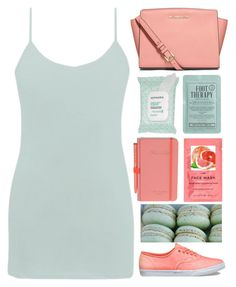 """""""Mint&Coral"""" by dianakhuzatyan ❤ liked on Polyvore featuring MICHAEL Michael Kors, Vans, BKE, Sephora Collection, Kocostar, H&M, Wild & Wolf and mintandcoral"""
