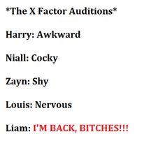 YES!!!! i love how liam is so confident in his audition <3