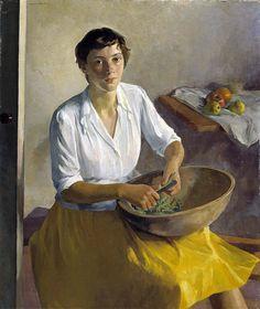 Ivan G Olinsky (Russian-born American artist, Serviceman's Wife 1942 - Pictify - your social art network Figurative Kunst, American Artists, Love Art, Female Art, Painting & Drawing, Art Museum, Art Photography, Art Gallery, Illustration