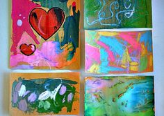 sandpaper ART with chalk and crayons art