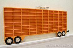 """Детская ручной работы. Полка """"прицеп к грузовику"""" для хранения машинок. DiMaxLW (DiMax). Интернет-магазин Ярмарка Мастеров. Стеллаж для игрушек"""