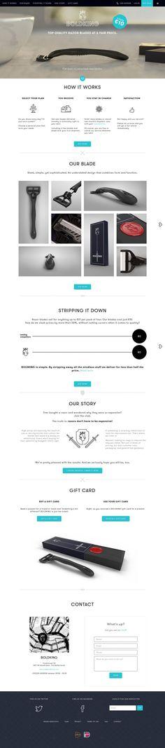 BOLDKING - Top quality razor - Webdesign inspiration www.niceoneilike.com