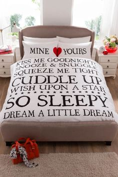 Buy the Double Mine & Yours Duvet Set From K Life. Your online shop for K-LifeBedroom  - FREE DELIVERY on orders over £50.