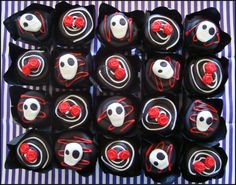 Decorated chocolate skull and rose cupcakes