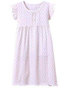BOOPH Girls Princess Nightgown Toddler Heart Shape Sleepwear Nightwear Dress