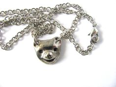 Bear Necklace Charm Button Pendant Animal Jewelry by by HendysHome, $18.00