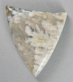 Stinking water plume agate doublet designer cab Silverhawk's designer gemstones.