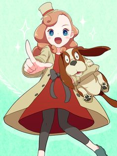 Katrielle Layton and Sherl the dog.