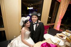 Bride and Groom - Disneyland Wedding {Sarina Love Photography}