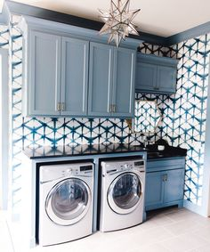 45 The Best Laundry Room Makeover Ideas For Your Dream House - Its one of the most used rooms in the house but it never gets a makeover. What room is it? The laundry room. Almost every home has a laundry room and . Blue Laundry Rooms, Mudroom Laundry Room, Laundry Room Layouts, Laundry Room Remodel, Laundry Room Organization, Laundry Room Design, Laundry Room Cabinets, Laundry Room Makeovers, Mud Rooms