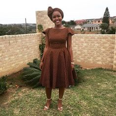 Elegant shweshwe dresses for outing 2017 . Elegant shweshwe dresses for outing 2017 . African Print Dresses, African Fashion Dresses, African Dress, African Prints, African Wear, African Style, African Women, Sishweshwe Dresses, Dress Outfits