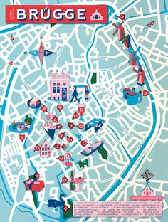 Jon Frickey - Map of Brugge #map #brugge