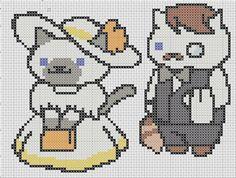 Jeeves & Sapphire Neko Atsume Cross Stitch door TheSoftScientist