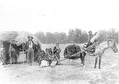 Stump Horn and his family - Northern Cheyenne - 1890
