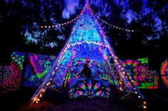 Light up neon camping teepee needs to happen in my life immediately!