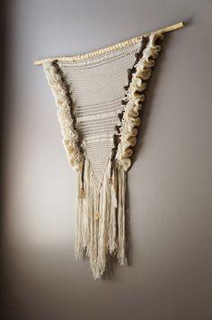 Woven Wall Hanging Free Form Crochet Bohemian by LemonCucullu