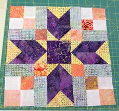what a great block!  Bonnie Hunter's blog. Don't know the origin of the block.