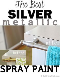 I did a 5 Brand Comparison test!   I found the best brand of spray paint to transform shiny brass to silver metallic metal.