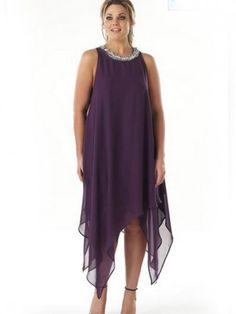 Шифоновое платье для пышных