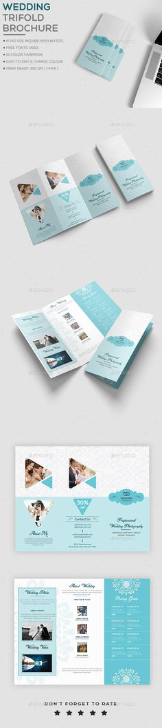 Wedding Brochure Template Brochure template, Brochures and Template - wedding brochure template