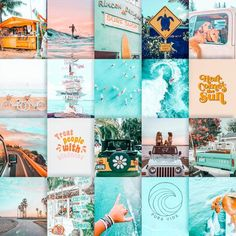 Collage Mural, Wall Collage Decor, Bedroom Wall Collage, Collage Background, Photo Wall Collage, Picture Wall, Beach Aesthetic, Aesthetic Photo, Iphone Wallpaper Tumblr Aesthetic