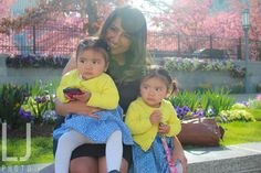 A Mother and her Daughters on Easter Sunday | Temple Square, Salt Lake City