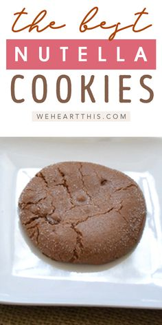 This easy Nutella cookies recipe is sure to fix your sweet tooth craving with the perfect blend of chocolate and hazelnut. Try out this easy Nutella cookie recipe today! Nutella Cookies Easy, Banana Nutella Muffins, Nutella Chocolate Chip Cookies, Pumpkin Chocolate Chips, Hazelnut Cookies, Best Dessert Recipes, Cookie Recipes, Delicious Desserts, Nutella Recipes