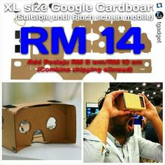 """An awesome Virtual Reality pic! #Repost @tgadget with @repostapp  XL size Google Cardboard  If u want know this function.... Pls goto YouTube and search """"Google Cardboard""""  Package includes: 1 x Cardboard 2 x Magnets 2 x Lens 2 x Pairs of Velcros  Pls Whatsapp me 012-5974138 Wechat ID: kokwei4138  Pos Laju every working days!!! Pls search """"tgadgettestimony"""" in instagram....for my testimony from my customer...Thank You!! #googlecardboard #3d #cardboardmalaysia #monopodmalaysia #diymalaysia…"""