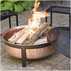 Shop our collection of stunningly beautiful Fire Pits and Fire Bowls and add the perfect fiery element to your outdoor living space today! We offer a selection of the best fire pits and fire bowls. Copper Fire Pit, Wood Fire Pit, Wood Burning Fire Pit, Diy Fire Pit, Fire Pit Backyard, Fire Pit Ring, Fire Pit Bowl, Fire Bowls, Metal Wood