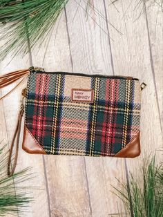 Just in time for the holidays. Shop our new fave accessories @ Miss Modern Boutique online & in store Tartan Plaid, Online Boutiques, Winter Collection, Travel Bags, Heaven, Holidays, Purses, Store, Modern