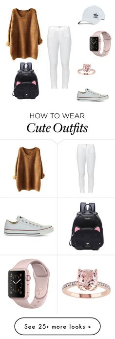 """""""Minimal go to outfit 👟"""" by crystal-marie-hermosura on Polyvore featuring Paige Denim, Converse and adidas Originals"""