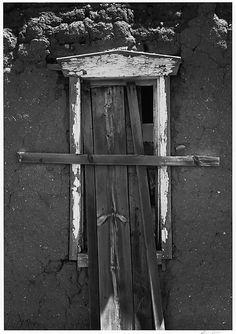 Window in Adobe House, Northern New Mexico / Ansel Easton Adams / 1972, printed 1974 / gelatin silver print