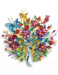 Quilled peacock..beautiful